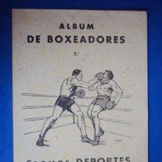 Coleccionismo deportivo: (AL-104)ALBUM CROMOS DE BOXEADORES Nº2 DEPORTES E INSTRUCCIÓN. VALENCIANA 1941(COMPLETO). Lote 36011465