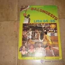 Coleccionismo deportivo: ALBUM DE BALONCESTO LIGA 84-85 INCOMPLETO 117 CROMOS DE 177 MUY DIFICIL TAN COMPLETO Y EN ESTADO . Lote 36074324