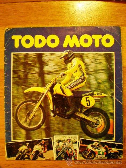 ÁLBUM 'TODO MOTO' (COMIC-ROMO, 1983) * CON 106 CROMOS, (Coleccionismo Deportivo - Álbumes otros Deportes)