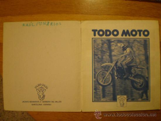 Coleccionismo deportivo: ÁLBUM TODO MOTO (Comic-Romo, 1983) * Con 106 cromos, - Foto 2 - 36134973