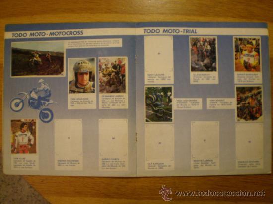 Coleccionismo deportivo: ÁLBUM TODO MOTO (Comic-Romo, 1983) * Con 106 cromos, - Foto 4 - 36134973