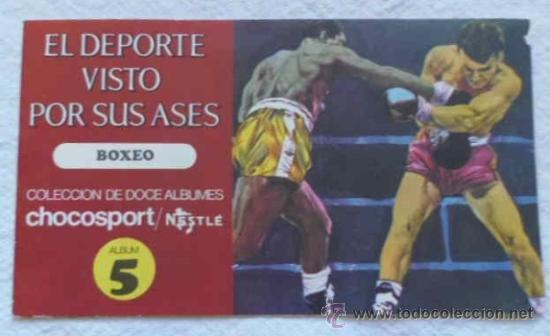 ALBUM 5 EL DEPORTE VISTO POR SUS ASES - BOXEO - CHOCOSPORT / NESTLÉ (Coleccionismo Deportivo - Álbumes otros Deportes)