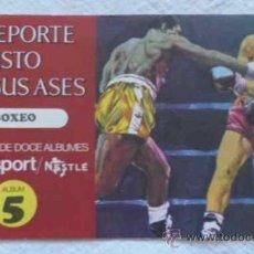 Coleccionismo deportivo: ALBUM 5 EL DEPORTE VISTO POR SUS ASES - BOXEO - CHOCOSPORT / NESTLÉ. Lote 36423815