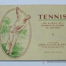 Coleccionismo deportivo: ALBUM DE CROMOS TENNIS FAMOUS PLAYERS IN ACTION ( ALBUM COMPLETO CON 50 CROMOS DE JUGADORES DE TENIS. Lote 37528045