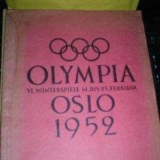 Coleccionismo deportivo: ALBUM OLIMPISMO , OLYMPIA OSLO 1952 VI WINTERSPIELE 14.BIS 25 FEBRUAR 24 PAG. COLECCION DE 49 CROMOS. Lote 39044156