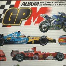 Coleccionismo deportivo: ALBUM DE CROMOS COMPLETO CON TODA LA INFORMACION DE FORMULA 1 Y MOTO GP CON 124 CROMOS. Lote 39767183