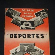 Coleccionismo deportivo: ALBUM PARA CROMOS - DEPORTES - CONTIENE 79 CROMOS - EDITORIAL FERCA - 1956 -. Lote 39801628