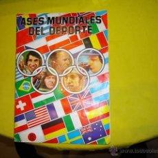 Coleccionismo deportivo: ALBUM COMPLETO ASES MUNDIALES DEL DEPORTE (QUELCOM - 1979) MUY RARO!!!! 256 CROMOS SIN NADA ESCRITO. Lote 40294770
