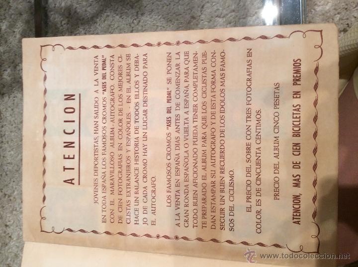 Coleccionismo deportivo: ASES DEL PEDAL 1960 COMPLETO - Foto 2 - 43776168