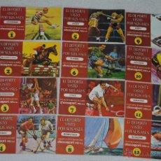 Coleccionismo deportivo: ALBUM EL DEPORTE VISTO POR SUS ASES NESTLE LOS 12 ALBUNES INCOMPLETOS. Lote 44326045