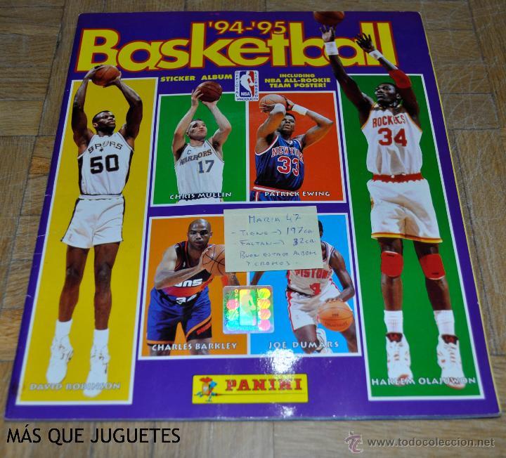 ÁLBUM BASKETBALL TEMPORADA 94-95. PANINI. FALTAN 33 CROMOS. (Coleccionismo Deportivo - Álbumes otros Deportes)