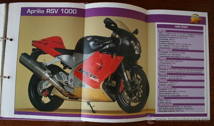 SUPER MOTOS 2 – ALBUM 116 FICHAS MODELOS Y GRANDES MOTOS – MOTOCICLISMO – CARACTERISTICAS TECNICAS (Coleccionismo Deportivo - Álbumes otros Deportes)