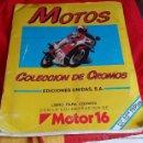 Coleccionismo deportivo: ALBUM O LIBRO DE CROMOS DE MOTOR 16 DE LA COLECCION DE MOTOS - EDICIONES UNIDAS AÑO 1987. Lote 47507297
