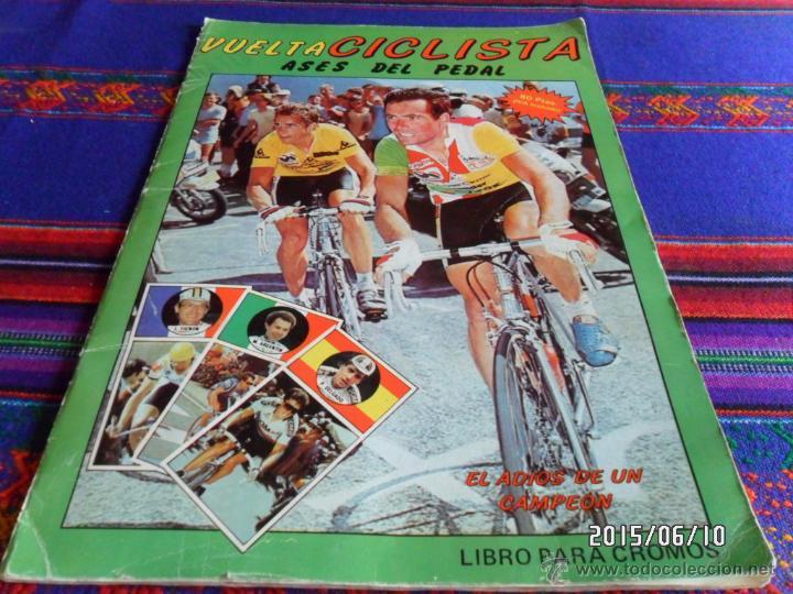 VUELTA CICLISTA ASES DEL PEDAL INCOMPLETO CON 45 CROMOS DE 128. J. MERCHANTE 1987. (Coleccionismo Deportivo - Álbumes otros Deportes)