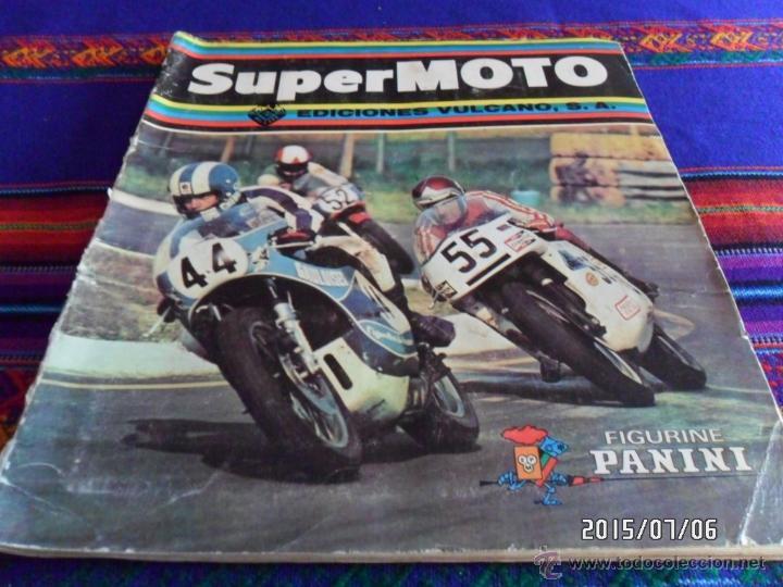 SUPERMOTO SUPER MOTO COMPLETO A FALTA DE LOS CROMOS 53 175 192. EDICIONES VULCANO PANINI 1975. (Coleccionismo Deportivo - Álbumes otros Deportes)