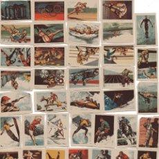 Coleccionismo deportivo: 62 CROMOS DEL ALBUM RUIZ ROMERO 1965, OLIMPIADA DE TOKIO 1964,Y CAMEONATO DE FUTBOL 1965,. Lote 50428527