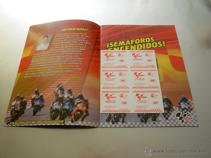 Coleccionismo deportivo: COLECCION OFICIAL DE CROMOS 2015 ( MOTOGP ) - COMPLETO - MARQUEZ - ROSSI -LORENZO ... - MOTO GP - Foto 3 - 52158269