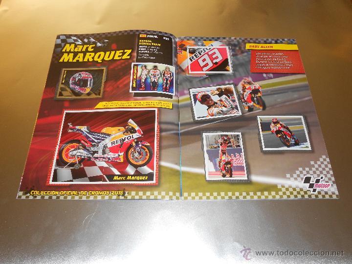 Coleccionismo deportivo: COLECCION OFICIAL DE CROMOS 2015 ( MOTOGP ) - COMPLETO - MARQUEZ - ROSSI -LORENZO ... - MOTO GP - Foto 5 - 52158269