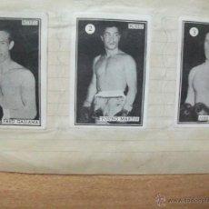 Coleccionismo deportivo: BOXEO COLECCION COMPLETA DE 65 CROMOS AÑOS 50. PEGADOS EN UNA LIBRETA. LUCHA. Lote 53052407