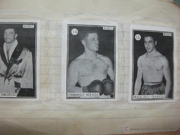 Coleccionismo deportivo: Boxeo coleccion completa de 65 cromos años 50. pegados en una libreta. Lucha - Foto 2 - 53052407