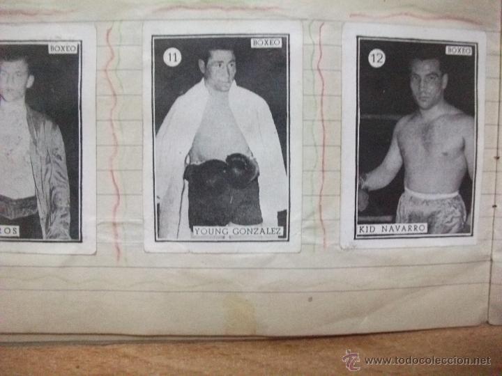 Coleccionismo deportivo: Boxeo coleccion completa de 65 cromos años 50. pegados en una libreta. Lucha - Foto 3 - 53052407