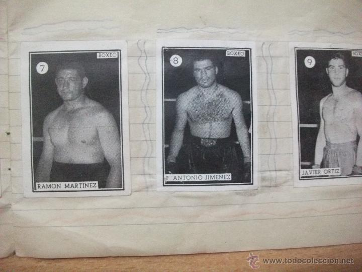 Coleccionismo deportivo: Boxeo coleccion completa de 65 cromos años 50. pegados en una libreta. Lucha - Foto 4 - 53052407