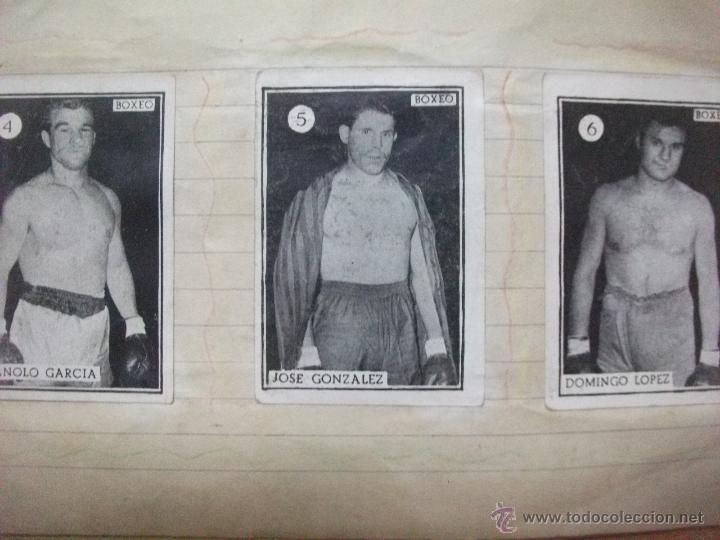 Coleccionismo deportivo: Boxeo coleccion completa de 65 cromos años 50. pegados en una libreta. Lucha - Foto 5 - 53052407