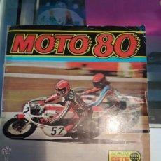 Coleccionismo deportivo: ÁLBUM DE CROMOS MOTO 80 COMPLETO. Lote 53405815