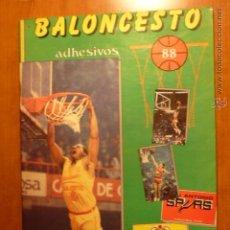 Coleccionismo deportivo: ALBUM BALONCESTO 88 EN PLANCHA CON 31 CROMOS PEGADOS.. Lote 54303162