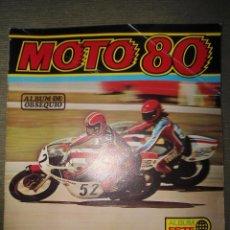 Coleccionismo deportivo: ANTIGUO ALBUM MOTO 80 - EDICIONES ESTE. Lote 54398214
