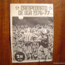 Coleccionismo deportivo: EDITORIAL FHER DISGRA - CAMPEONATO DE LIGA 1976-77 - SOBRE DE CROMOS FUTBOL VACIO 76/77 -MUY DIFICIL. Lote 55407035