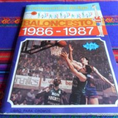 Coleccionismo deportivo: CAMPEONATO DE LIGA BALONCESTO 1986 1987 COMPLETO J. MERCHANTE. MBE. REGALO BALONCESTO 88 INCOMPLETO.. Lote 56737909