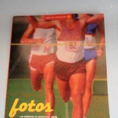 Coleccionismo deportivo: CARPETA Y 3 FOTOS. IMÁGENES BARCELONA 92. LA VANGUARDIA #PV-R. Lote 57081128