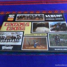 Coleccionismo deportivo: CONTAMOS CONTIGO COMPLETO 310 CROMOS. COLED 1968. BUEN ESTADO CON TARJETAS Y PÁGINAS DE PUBLICIDAD.. Lote 60831691