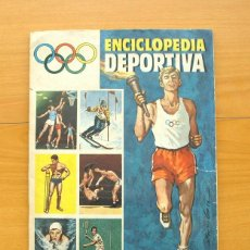 Coleccionismo deportivo: ÁLBUM ENCICLOPEDIA DEPORTIVA - EDITORIAL BRUGUERA 1963 - A FALTA DE 9 CROMOS. Lote 61091951