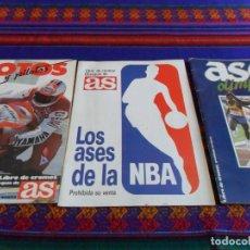 Coleccionismo deportivo: AS LOS ASES DE LA NBA, ASES OLÍMPICOS Y COCHES MOTOS Y PILOTOS COMPLETO. BUEN ESTADO.. Lote 61745432