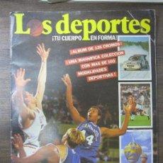 Coleccionismo deportivo: ALBUM INCOMPLETO. LOS DEPORTES. ¡TU CUERPO EN FORMA!. PLANETA-AGOSTINI. FALTAN 6 CROMOS.. Lote 63182808