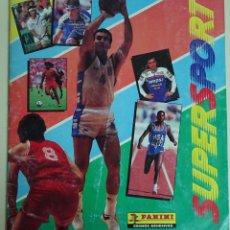 Coleccionismo deportivo: ÁLBUM CON 124 CROMOS SUPERSPORT PANINI. MAGIC JOHNSON, LARRY BIRD, ISIAH THOMAS. MARADONA 150 GR. Lote 66052426