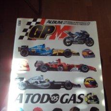 Coleccionismo deportivo: ALBUM A TODO GAS--2005-- FORMULA 1 Y MOTO GP...MARCA...VACIO. Lote 66311150