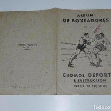 Coleccionismo deportivo: ALBUM DE BOXEADORES NUM 2 - COMPLETO !!!!! EDT VALENCIANA 1941, SEÑALES DE USO. Lote 72750031