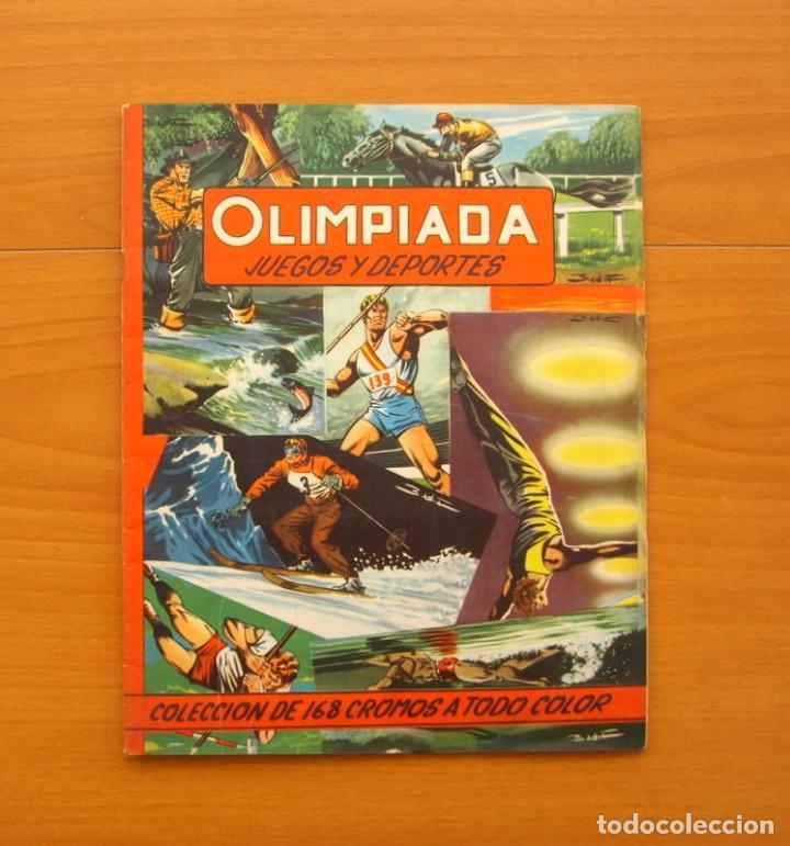 ÁLBUM OLIMPIADA, JUEGOS Y DEPORTES - EDITORIAL RUIZ ROMERO 1957 - COMPLETO (Coleccionismo Deportivo - Álbumes otros Deportes)