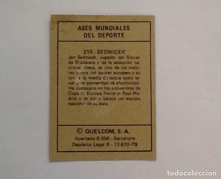 Coleccionismo deportivo: JAN SEDNICECK, BALONCESTO, ASES MUNDIALES DEL DEPORTE Nº 210 GRANDE - Foto 2 - 77262353