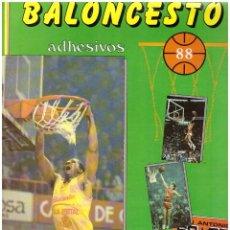 Collezionismo sportivo: ALBUM BALONCESTO 88 - CONTIENE 10 CROMOS. Lote 80007365
