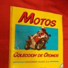 Coleccionismo deportivo: ALBUM DE CROMOS COMPLETO. MOTOS. MOTOR 16. EDICIONES UNIDAS.. Lote 82751864