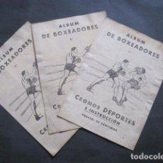 Coleccionismo deportivo: ALBUM DE BOXEADORES - 3 ALBUMS 1º 2º 3º - INCOMPLETOS - VER FOTOS-(V- 10.947). Lote 86289768