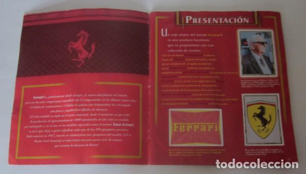 Coleccionismo deportivo: ALBUM FERRARI DE PANINI - Foto 2 - 87367944