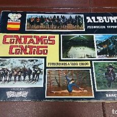 Coleccionismo deportivo: ÁLBUM INCOMPLETO CONTAMOS CONTIGO . Lote 95372983