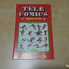 Coleccionismo deportivo: ALBUN TELE COMICS DEPORTIVOS SERIE 1 DE JAN COMPLETO Y EN PERFECTO ESTADO. Lote 97472527