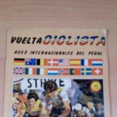 Coleccionismo deportivo: ALBUM VUELTA CICLISTA - ASES INTERNACIONALES DEL PEDAL - COMPLETO -5 CROMOS - BUEN ESTADO VER FOTOS. Lote 98506595