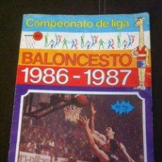 Coleccionismo deportivo: ALBUM CAMPEONATO DE LIGA DE BALONCESTO 86/87 PARA RECUPERACIÓN. Lote 109013230